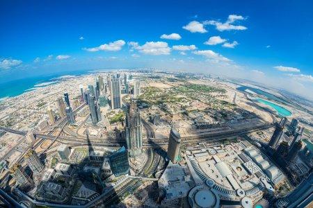Dubai aerial skyine, UAE