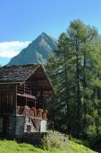 mountain wooden house