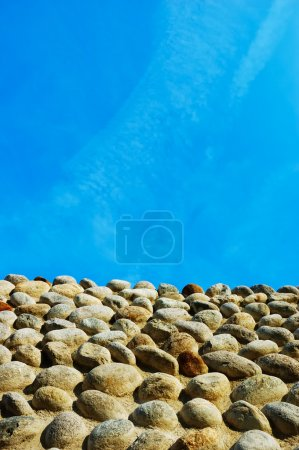Ancient castle stone wall