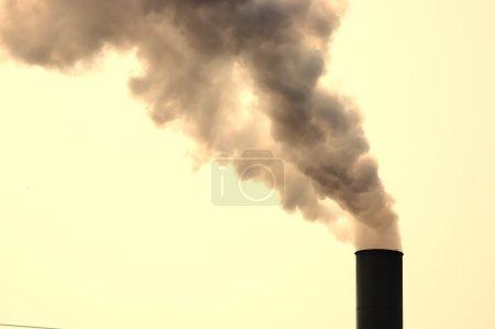 Smokestack belching out smoke