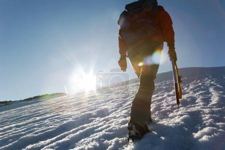 Photo of mountain climber