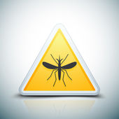 mosquito insect warning icon