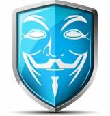 Guy Fawkes mask shield