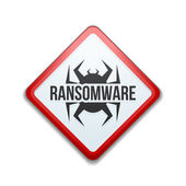 Ransomware Hazard sign
