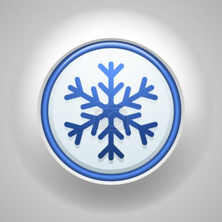 Freezing button sign icon