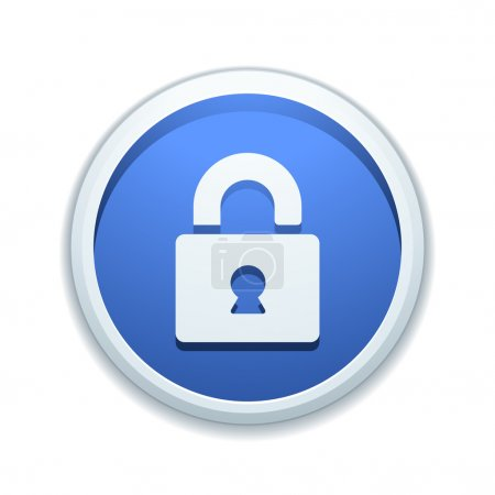 Secure lock button sign icon...