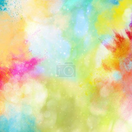 Photo pour Fond d'explosion de poudres colorées brillants - image libre de droit