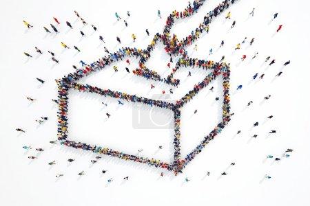 peuple forme des élections symbole