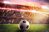 Soccerball at the stadium