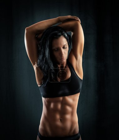 Muscular sexy woman