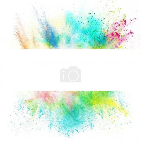 Photo for Fresh banner with colorful splash effect on white background - Royalty Free Image
