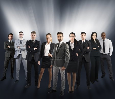 Company team of businesspeople