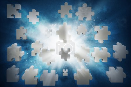 Concept of partnership with puzzle