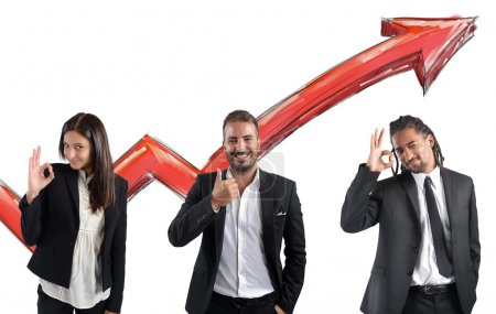 Businessperson satisfied for financial profits