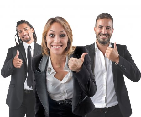Photo for Entrepreneurs optimistic smile for their beautiful career - Royalty Free Image