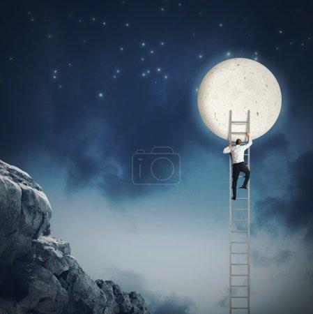 Man climbing the sky