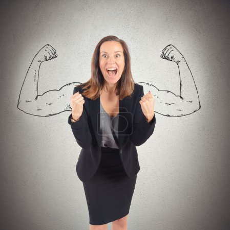 Businesswoman with inner strength