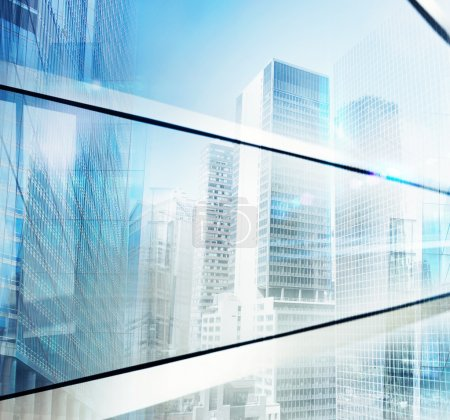 Large modern skyscrapers