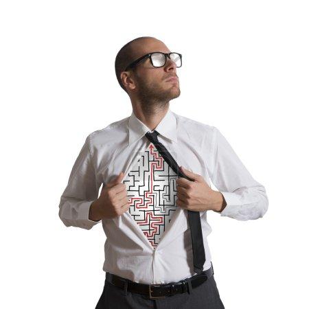 Businessman becomes a maze super hero