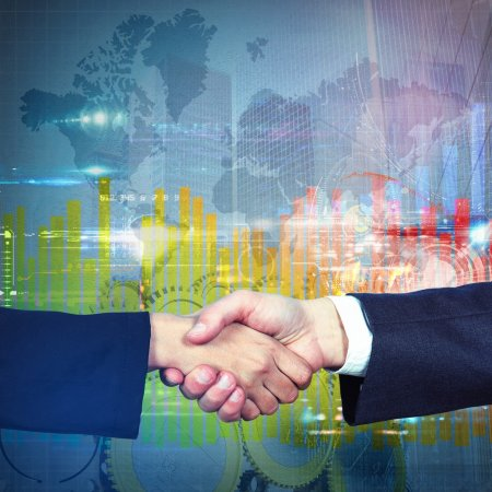 Handshake symbol of an business agreement