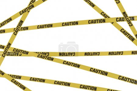 Yellow strips of caution