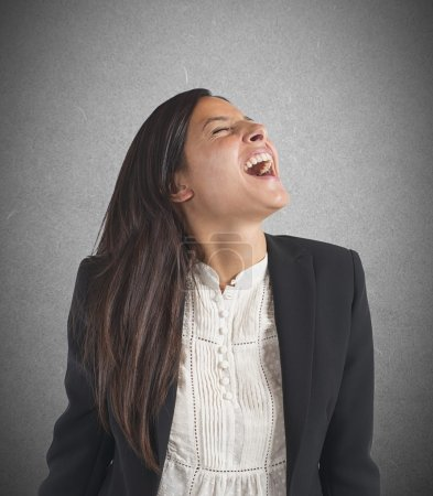 Photo for Crazy businesswoman stressed out from work screams - Royalty Free Image