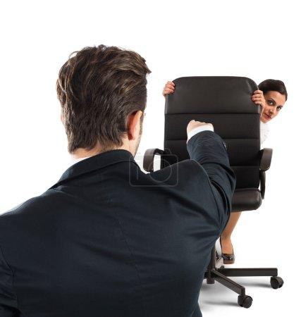 Boss chides an employee