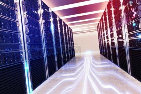 Photo pour Image d'une pièce de base de données virtuelle - image libre de droit