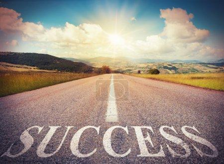 Road that says success
