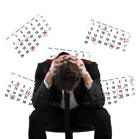 Businessman worried  by deadlines