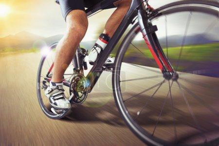 Mountain bike runs fast