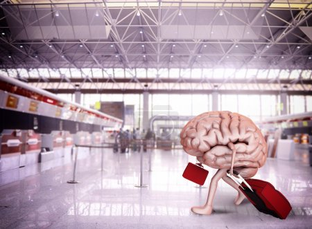 Brain escape with luggage