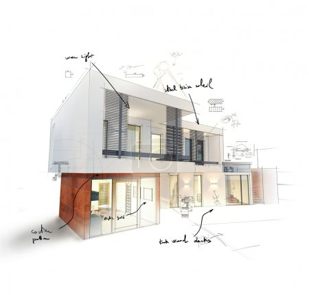 Project of a modern house