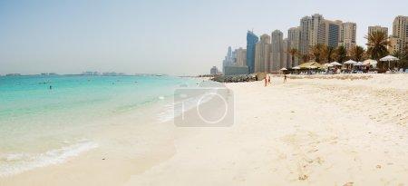 Panorama of the beach at Jumeirah Beach Residence, Dubai, UAE