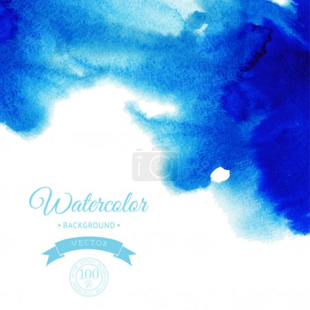 Illustration for Abstract hand drawn watercolor background,vector illustration, stain watercolors colors wet on wet paper. Watercolor composition for scrapbook elements - Royalty Free Image