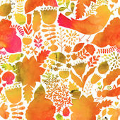 Vector autumn watercolor pattern