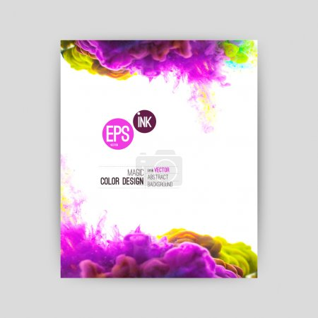 Illustration for Vector abstract cloud. Ink swirling in water, cloud of ink in water isolated on white. Abstract banner paints. Holi. Liquid ink. Background for banner, card, poster, poster, identity,web design.Juice - Royalty Free Image