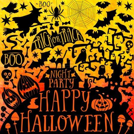 Vector  Happy Halloween collection