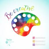 Watercolor palette icon