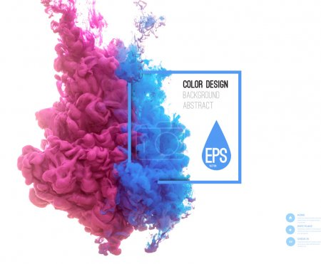 Illustration for Vector abstract cloud. Ink swirling in water, cloud of ink in water isolated on white. Abstract banner paints. Holi - Royalty Free Image