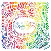 colorful Summer floral bunner