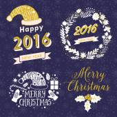 Christmas Calligraphic labels