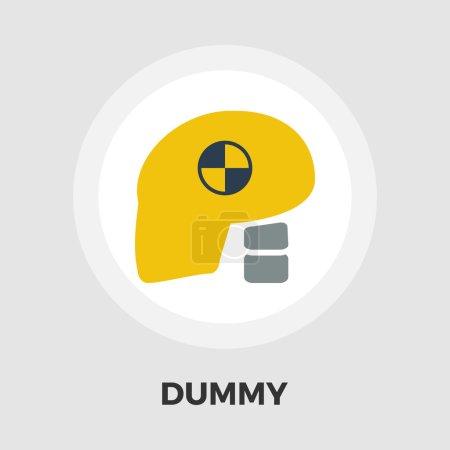 Dummy head for crash test flat icon
