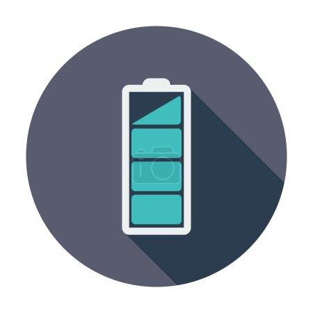 Illustration pour Je charge la batterie. Icône simple couleur plate. Illustration vectorielle . - image libre de droit
