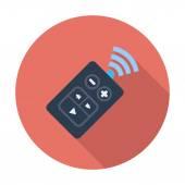 Car remote control Single flat color icon Vector illustration