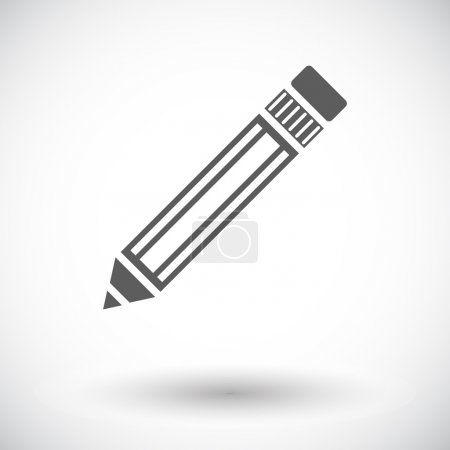 Illustration for Pencil. Single flat icon on white background. Vector illustration - Royalty Free Image