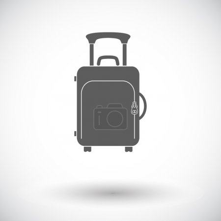Suitecase. Single flat icon on white background. V...