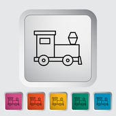 Train toy thin line flat vector related icon set for web and mobile applications It can be used as - pictogram icon infographic element Vector Illustration