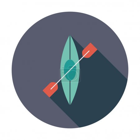 Illustration for Canoe. Flat vector icon for mobile and web applications. Vector illustration - Royalty Free Image