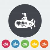Submarine icon Flat vector related icon for web and mobile applications It can be used as - logo pictogram icon infographic element Vector Illustration